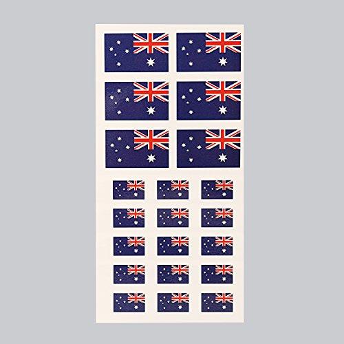 en Aufkleber Gesichtsfarbe wasserdicht Poster Wm tattoos Umwelt ungiftig Schmuck, Australien Gesicht (Halloween Amerika Australien)