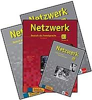 Netzwerk A1 Textbook + Workbook + Glossar + Intensivtrainer with 2 CDs (4 Book Set)