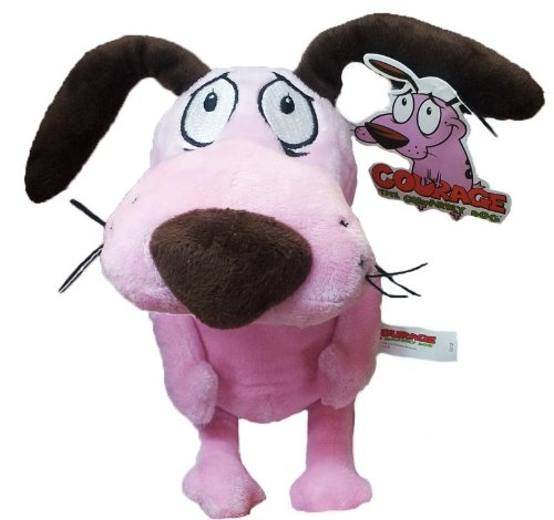 Peluche Leone Il Cane Fifone 30 cm - Pupazzo Courage The Cowardly Dog