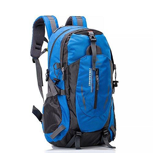 Huntvp 40L hiking backpack waterproof rucksack for outdoors sport trekking camping travel climbing Blue