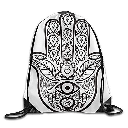EELKKO Cute Woodland Animals On Blue - Scale_13045 3D Print Drawstring Backpack Rucksack Shoulder Bags Gym Bag for Adult 16.9