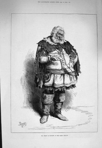 Kostüm 1875 Porträt-Herr-Phelps Falstaff Gaiety (1875 Kostüme)