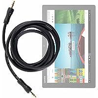 DURAGADGET Cable De Audio De Excelente Calidad Para Tablet Asus Transformer Pro T304 , ZenPad 3S 10 LTE / Dell Latitude 5285 , 7285 / Lenovo Miix 720 ...
