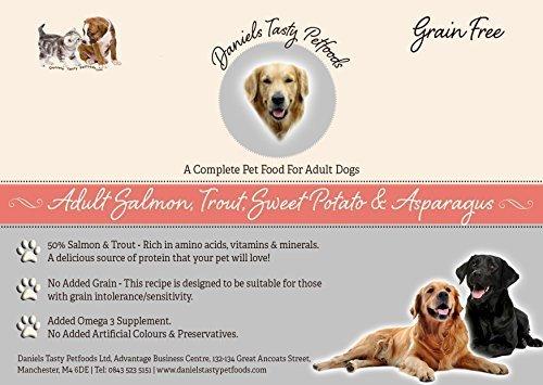 Welpenfutter Hundefutter–Lachs, Forelle, Sweet Potato & Spargel