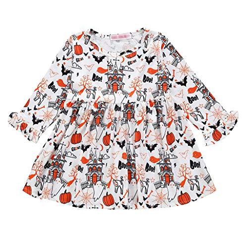Für Coole Gruppen Kostüm Ideen - Writtian Damen Infant Kleinkind Baby Mädchen Halloween Kürbis Bogen Party Clubbing Hause Cosplay Cute Fashion Kleid Kleidung Kleider