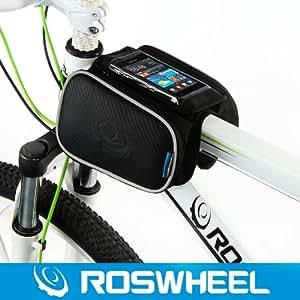 NetsPower ® ROSWHEEL Texture Series   Borsa bicicletta Frame, il sacchetto del telefono Top provetta per Iphone 5/4, Samsung Galaxy S5/S4/S3 e l'altro telefono cellulare fino a 5 pollici