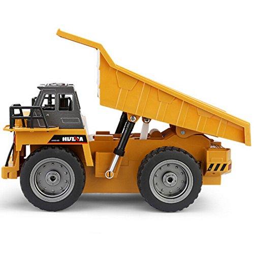 RC Auto kaufen Baufahrzeug Bild 5: LoKauf 1:18 6CH Dumper Kipper mit Fernbedienung RC Bagger Metall Ferngesteuert für Kinder*