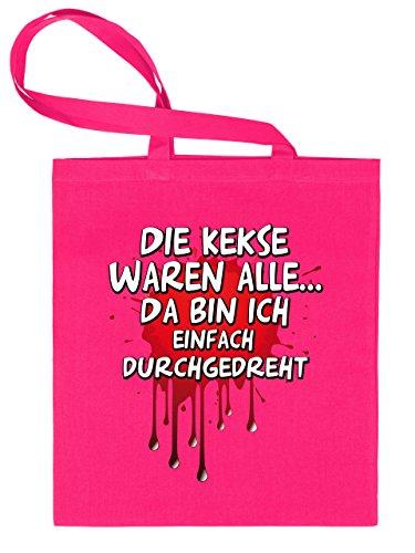 DIE KEKSE WAREN ALLE. DA BIN ICH EINFACH DURCHGEDREHT 4843 Stoffbeutel (Pink)
