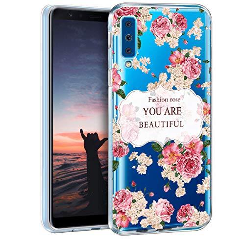 Kkkie Marmor Hülle kompatibel mit iPhone 5 / 5s, Ultra Dünn Soft Silikon Bumper Case Transparent Flexible Stoßfest Handyhülle Blumen-Serie Schutzhülle kompatibel iPhone 5c / SE (6, iPhone SE)