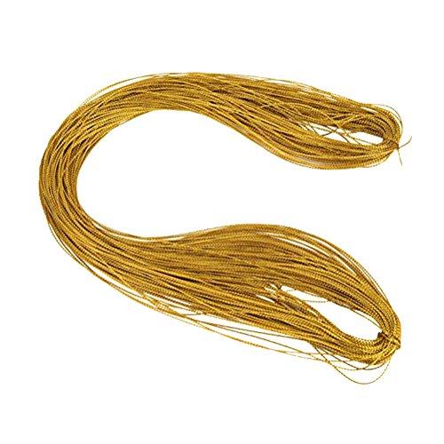 ROSENICE 100m gold Schnur Kordel Schmuck Perlen Basteln Faden für DIY Perlen Armband Schmuck Geschenk (Metallica-armband)