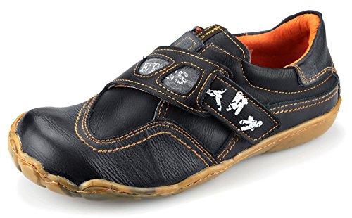 TMA Leder Damenschuhe Halbschuhe Slipper Comfort Schuhe 1901 Schwarz