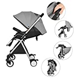 Besrey Baby Stroller Lightweight Fold Pushchair(Grey)