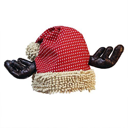 UFODB Christmas Caps Weihnachtsmütze Erwachsene Kind Süß Elch Geweih Weihnachtsmann Claus Hüte Weihnachten Weihnachten Urlaub ()