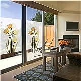 YFXGSTLI Fensterfolie Fensterglasfolie Mattpapier Transparente Undurchsichtige Aufkleber Verschieben Fenster Papier Blume Fensteraufkleber Schattierung Sonnencreme 60 * 90 cm