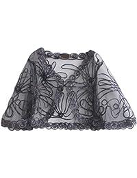 Lannister Fashion Chal Mujer Fiesta Elegantes Vintage Transparentes Encaje Cardigan Poncho Estola Ropa Bolero Para Boda