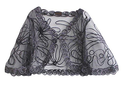 Lannister Fashion Chal Mujer Fiesta Elegantes Vintage Transparentes Encaje  Cardigan Poncho Estola Ropa Bolero para Boda f0bbe908ab4d
