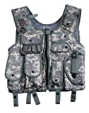SWAT I Einsatz Weste mit Holster Security Paintball Camo ACU-Tarn Gr.L L