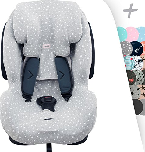 JANABEBE Funda para silla de coche Be Cool, Thunder- Foppapedretti Isodinamik-Nurse Tropic (WHITE STAR)