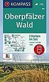 Oberpfälzer Wald: 2 Wanderkarten 1:50000 im Set inklusive Karte zur offline Verwendung in der KOMPASS-App. Fahrradfahren. (KOMPASS-Wanderkarten, Band 186) -