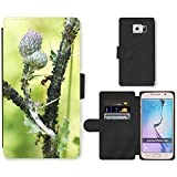 hello-mobile PU LEATHER case coque housse smartphone Flip bag Cover protection // M00136782 Los áfidos Thistle piojos infestación // Samsung Galaxy S6 (Not Fits S6 EDGE)