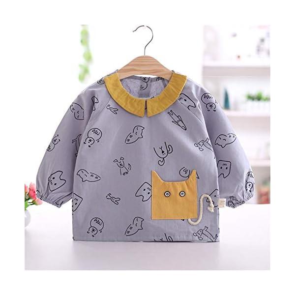 YuJian12 - Babero de Manga Larga para bebé (algodón, Resistente al Agua), G, M 73-80CM Baby 4