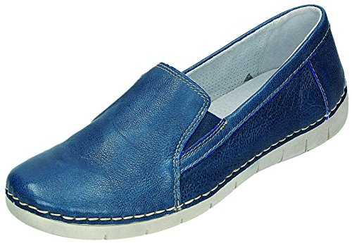 RELAXSHOE Chaussures pour Femme Sportif D. Chaussons Bleu - ozean Weite G