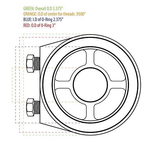 GlowShift Oil Filter Sandwich Adapter 20mm 1.5 Thread