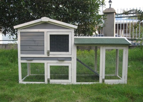 BUNNY BUSINESS The Grove Spearmint Double Decker Rabbit/ Guinea Pig Hutch and Run, and Cover 1