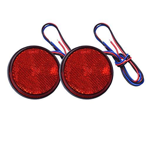 Blocchi Fari Posteriori, HEHEMM Fanali Posteriori Rimorchio Led Fanale Rotondo Retronebbia LED Fendinebbia Led Luce Freno a Led Rotonda Luce Segnaletica per Camion Moto Auto 2 PCS (rosso)