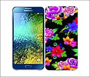 Galaxy Printed 2554 Painted Flower Black Hard Cover for Samsung CORE PLUS