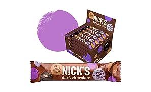 NICKS Chocolate sin azúcar añadido 30 x 25g (Chocolate negro)