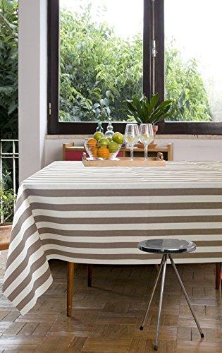 Mantel anti manchas Adriatico 50% algodón 50% poliéster, resinado y con Teflón de Dupont® (130x200, NEGRO)