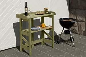 Grilltisch Holz klappbar Klapptisch 90x42x97 cm von Gartenpirat®