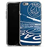 DeinDesign Coque en Silicone Compatible avec Apple iPhone 6 Étui Silicone Coque Souple Paris Saint-Germain PSG Parc des Princes