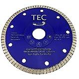 PRODIAMANT Diamant-Trennscheibe Turbo Fliese PTEC Ø 125 mm Bohrung 22,22 mm extradünn Keramik, Naturstein, Steinzeug, Feinsteinzeug, Klinker