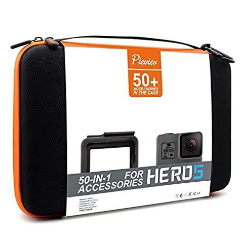 Pieviev Accessories Case Kit for HERO5 Black (50+ Items,Included HERO5 Black Frame)