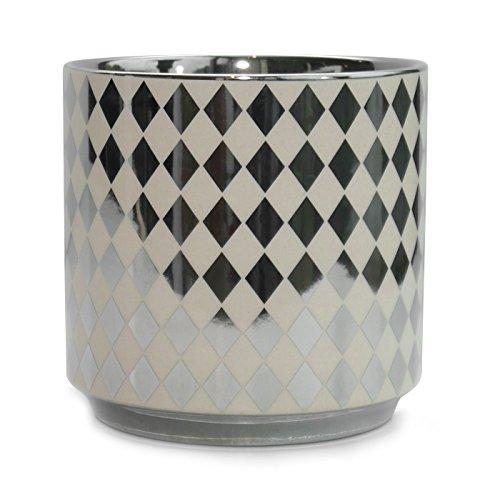 Scheulen Blumentopf Übertopf MARRAKESCH Pflanztopf Umtopf Keramik Silber beige 14 cm D