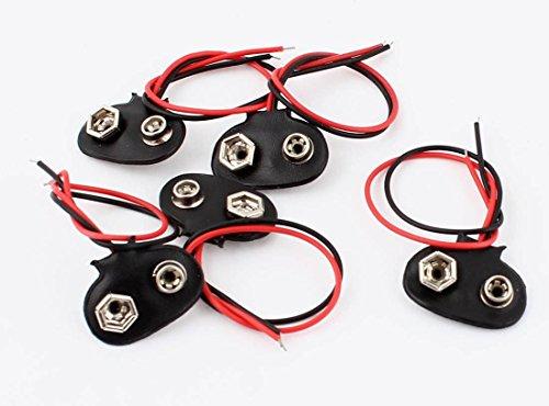 Preisvergleich Produktbild 5 Stück Batterieclip 9V Clip