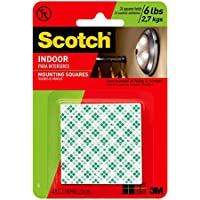 3 M Scotch Indoor Mounting Squares, 1-inch, 48-square