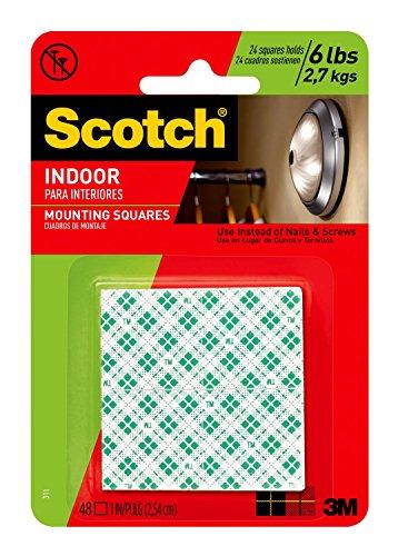3M Scotch 311DC Heavy Duty 1-Inch Mounting Squares