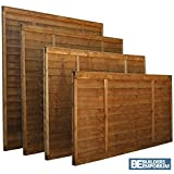 Lap Wooden Fence Panels 3ft, 4ft, 5ft, 6ft Horizontal Dip Treated (6ft x 6ft)