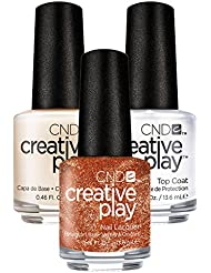CND Creative Play Lost in Spice Nr. 420 13,5 ml mit Creative Play Base Coat 13,5 ml und Top Coat 13,5 ml, 1er Pack (1 x 0.041 l)