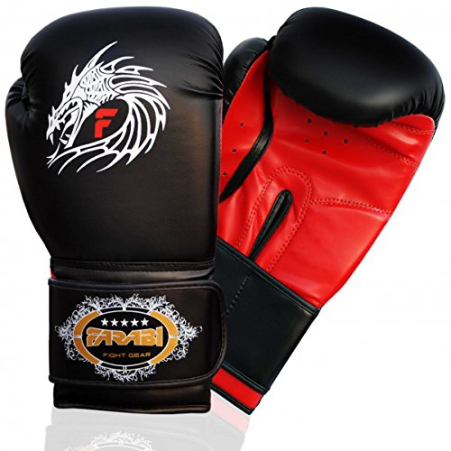 Farabi Dragon Boxing MMA Muay Thai Kickboxing Fitness Punching Gloves Bag Mitts