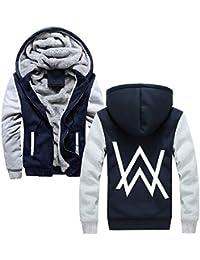 OENKIKIN Hombres Chaquetas con Capucha Casuales Alan Walker Abrigos más Terciopelo Engrosada Jacket Coat Deportivo Outwear