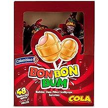 Bon Bon Bum Bubble Gum Cola - Paquete de 48 x 17 gr - Total: 816 gr