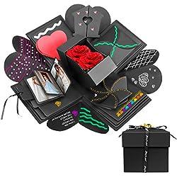 Powcan Coffret Cadeau Surprise, DIY Boîte d'explosion Amour Souvenir Boite Album-Photo Créatif pour Noël/Anniversaire/Fête