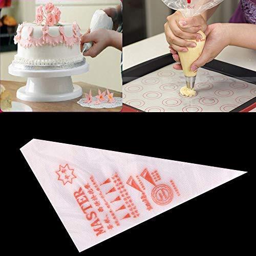 Fatalom Spritzbeutel, 200 Stück, Einweg-Spritzbeutel, für Kuchen, Cupcakes, Kekse, Dekoration, Tüten