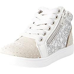 BATA 229107, Sneaker a Collo Alto Bambine e Ragazze, Grigio, 27 EU