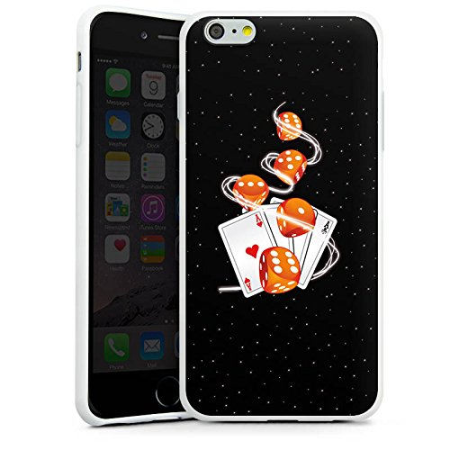 Apple iPhone X Silikon Hülle Case Schutzhülle Würfel Herz Karten Silikon Case weiß