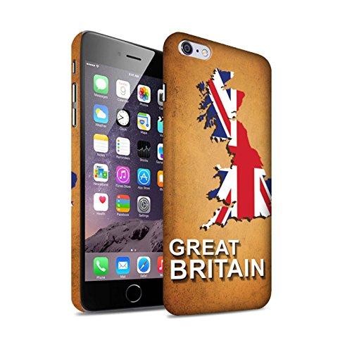 STUFF4 Matte Snap-On Hülle / Case für Apple iPhone 7 Plus / Deutschland/Deutsch Muster / Flagge Land Kollektion Großbritannien